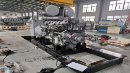 diesel generator sets for the 18MW power station are being assembled